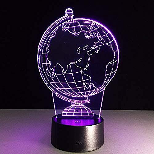 3D Terre Globe Led 7 Changement De Couleur Flash Light Table Table De Chevet Bébé Sommeil Nuit Lampe Nouveauté Enfant Enfant De Vacances En Classe Décor Cadeau