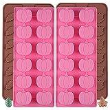 MEZHEN Halloween Stampi in Silicone Zucca Stampi Caramelle Foglie Stampi per Cioccolato Torte Dolci Stampi 4 Pezzi
