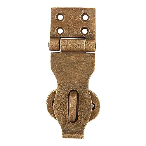 Set of 4 Waxed Bronze Chest/Trunk Hasp 4 Inches Weathered Bronze Finish Safety Latch