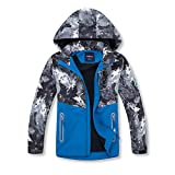 Simplee kids Boys' Hooded Jackets Child Lightweight Waterproof Coat Outwear Fall Winter Clothes for 7 Years (Starry Blue)