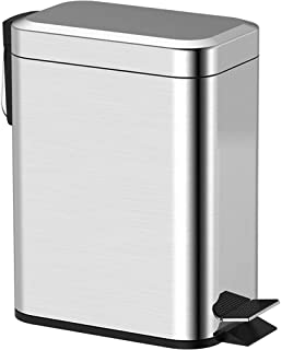 SYDDP Home Recycling Bins Square Trash Can Silent Trash Can Home Kitchen Flip Kitchen Bucket Hands-touch-pedal-free Slimline Twin Double Compartment Recycling Kitchen Food Waste Disposable Storage Bin