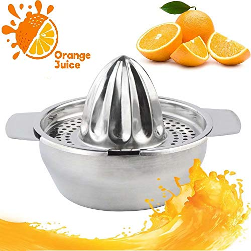 Jinyi Best Juicer Squeezer Tool, Stainless Steel Orange Citrus Lemon Fruit Squeezer for Home Bar Kitchen Utensil