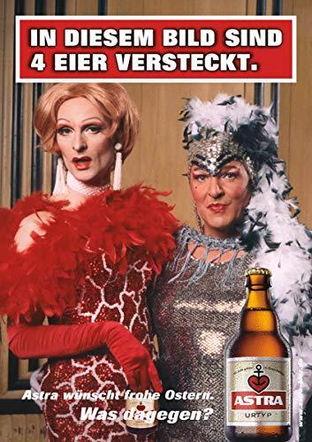 ASTRA Bier Werbung/Reklame Plakat DIN A1 59,4 x 84,1cm In diesem Bild sind 4 Eier versteckt kultiges Poster aus St. Pauli