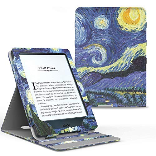Capa Novo Kindle Paperwhite a Prova D'Água Wb ® Premium Vertical Auto Hibernação - Van Gogh, Wb, Novo Kindle Paperwhite a Prova D'Água, Capa Flip, Van Gogh
