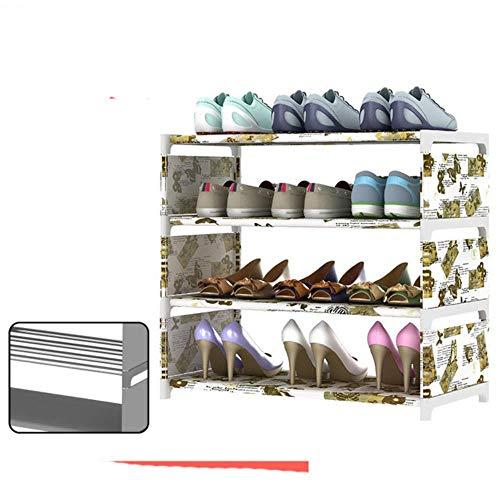 Zapatero multicapa simple para el hogar, económico, organizador de zapatos, para dormitorio, pequeño zapatero de almacenamiento, almacenamiento, zapatos, mariposa, 4 l