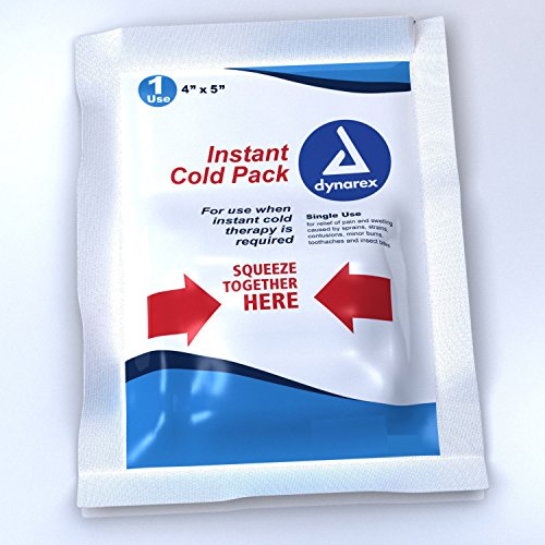Dynarex Instant Cold Ice Packs, 4x5 Inches, 12 Pack