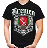 Für Immer Bremen Männer und Herren T-Shirt | Sport Fussball Stadt Fan (XXL, Schwarz Druck: Bunt)