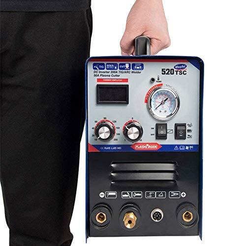 SUSEMSE TIG/WIG/MMA/Plasmaschneider-Schweißgerät 3 in 1 Kombi-Multifunktion Plasmaschneider mit 50 A Luftwechselrichter 200 A Schweißgerät 220 V Schweißgerät 520TSC (WIG/MMA/Cut)