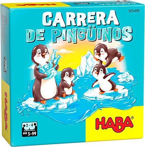 Haba- Carrera de pingüinos-ESP Juego de Mesa (Habermass H305499)