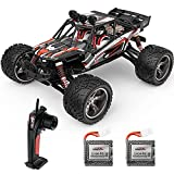 BEZGAR 8 Hobbyist Grade 1:12 Scale Remote Control Truck, 2WD High Speed 38 Km/h All Terrains Electric Toy Off Road RC Monster Vehicle Car Crawler with 2 Rechargeable Batteries