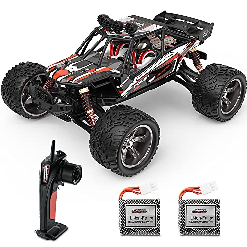 BEZGAR 8 Hobbyist Grade 1:12 Scale Remote Control Truck, 2WD High Speed 42 Km/h All Terrains Electric Toy Off Road...