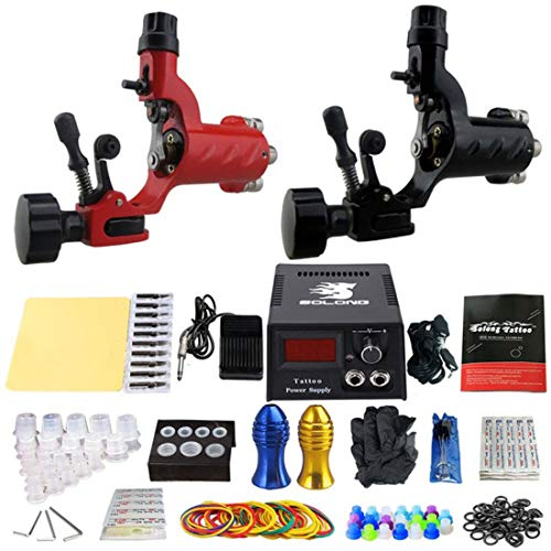 ZH1 Tattoo Gun Kit Professionnel Complet, Tatouage Artistes Tattoo Tattoo Machine Guns, Tatouage kit Complet, Fournitures de Cas Voyage Tattoo Tattoo Artistes