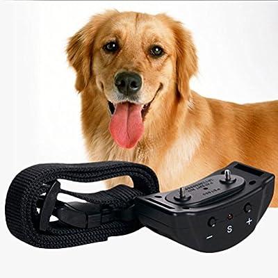 KOLAMAMA Bark Collar, 2018 Dog No Shock Bark Collar with Visual Adjustable Gear Anti Bark Control Devices for Small Medium Large Dogs 5-160lbs No Bark Collar Waterproof Shock Dog Collar