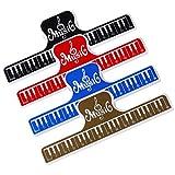 Clips de Música para Partituras, Soporte de Página para Piano, Guitarra, Violín, Tocar Instrumentos, Abrazaderas para Carpeta, Pinza para Libro, 4pcs