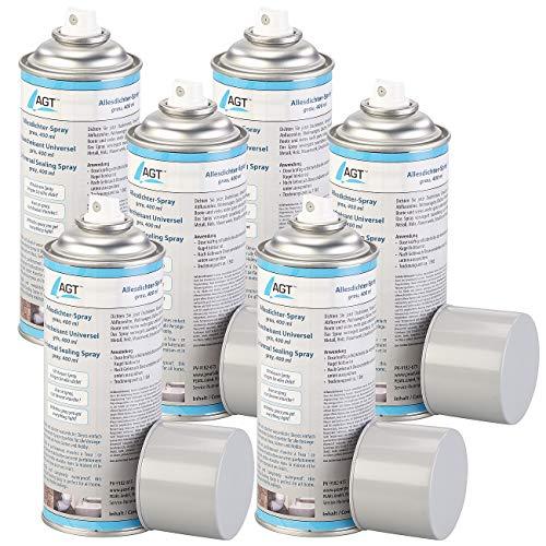 AGT Dichtungsspray Gummi: Allesdichter-Spray, grau, 6x 400 ml (Abdicht-Spray)
