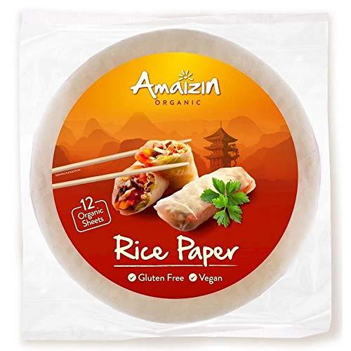 Papel de arroz para rollitos Amaizin, 12 tortitas