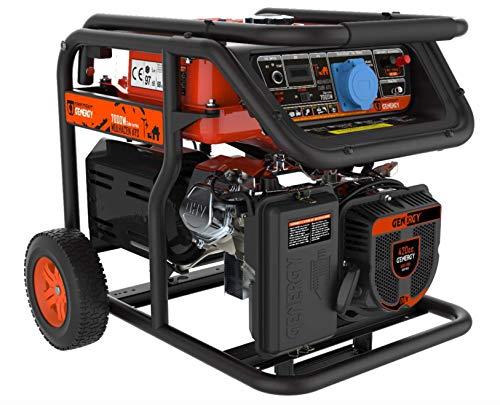 Generador de corriente de gasolina, 4 tiempos, 7000 W, ATS AVR EURO 5, Profi-Line SVR 230 V, manual + arranque eléctrico