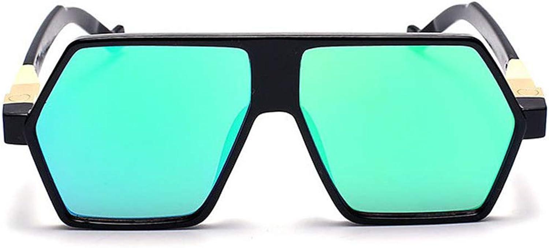 Fashion Unique Irregular UV Predection Sunglasses for Women Men Outdoor Driving Vacation Summer Beach. Retro (color   Green)