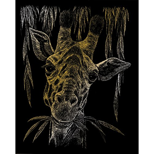 Royal & Langnickel GOLF24 - Engraving Art/Kratzbilder, DIN A4, Giraffe, gold