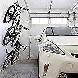 PerGrate, 3 supporti per biciclette, da parete, in acciaio, supporto per pedali, pneumatici e sospensioni