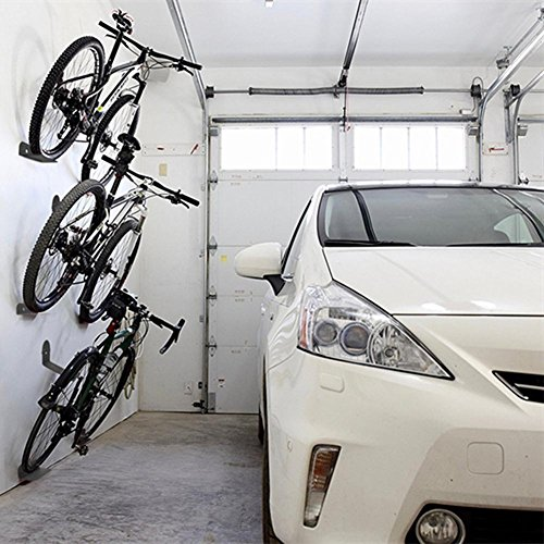 PerGrate 3 PC an der Wand befestigte Fahrrad Steht Stahlstützbike-Radfahrenpedal-Reifen-Speicher-Aufhänger-Gestell