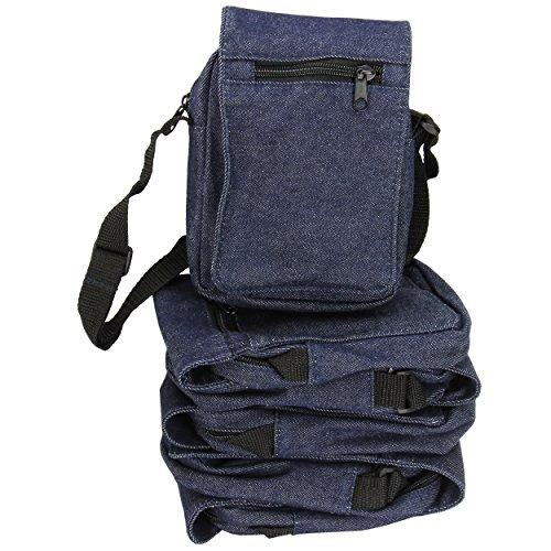 Jeans Schultertasche Kinder, Set mit 6 Stück Umhängetasche ist ca. 18 x 11 x 6 cm Jeans Kinder-Tasche/Kinderhandtasche blau Mitgebsel Mitbringsel Kinder-Garten-Tasche | trendmarkt24-47360