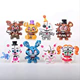Therfk 8Pcs/Set Five Nights At Freddy'S Fnaf Figure Foxy Gold Freddy Chica Freddy Sister Pvc Action Figure Toys Mini Model Dolls 5-6Cm