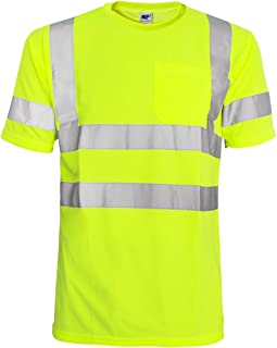 Best Hi Vis T Shirt ANSI Class 3 Reflective Safety Lime Orange Short Long Sleeve HIGH Visibility Review