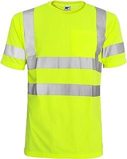 L&M Hi Vis T Shirt ANSI Class 3 Reflective Safety Lime Orange Short Long Sleeve HIGH Visibility