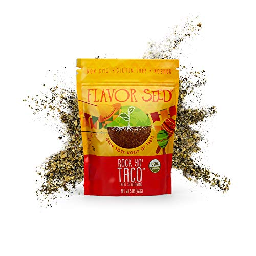 Rock Yo' Taco Organic Taco Seasoning Mix, Gluten-Free Whole 30 Taco Seasoning with No Additives and Preservatives, 5oz Poly Bag - Flavor Seed