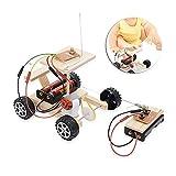 Jadpes RC Coche Inalámbrico RC Model, automóvil RC, DIY Modelo de automóvil de Madera RC Juego de Control Remoto Juego de Juguete para niños Juguete Educativo Kits de Montaje de vehículos