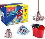 Vileda Supermocio Box Sistema Lavapavimenti, Set con Strizzatore, Secchio, Manico 3...