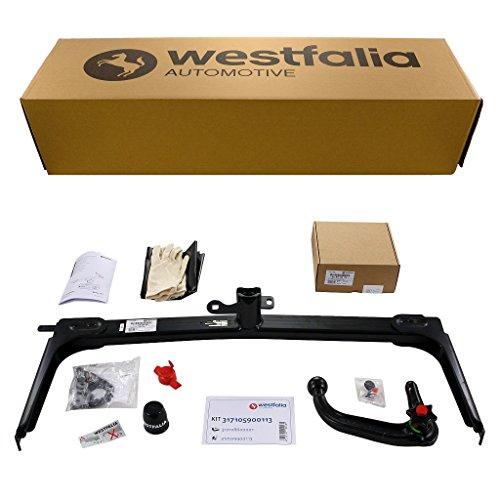 Westfalia abnehmbare Anhängerkupplung für Skoda Yeti (ab BJ 08/2009) im Set mit 13-poligem fahrzeugspezifischen Westfalia Elektrosatz