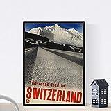 Nacnic Vintage Poster Vintage Poster Europäische Berge.