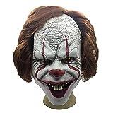 Máscara de Cabeza de látex de Payaso de Halloween Set Carnaval Fiesta Cosplay Props Aplicable a Adulto Head Decoration Playground Haunted House Adornos