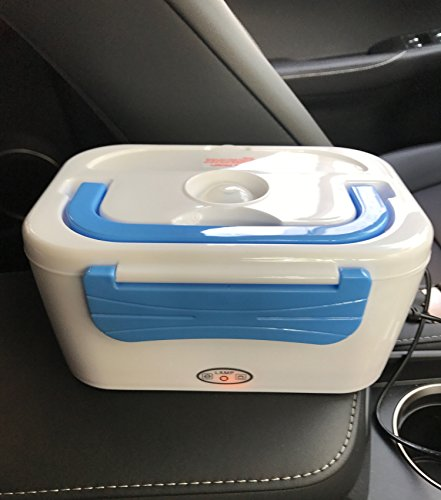 Vmotor Portable 12V Car Use Electric Heating Lunch Box Bento Meal Heater Food Warmer 45W (Blue)