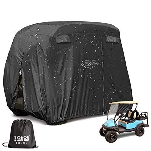 professional 10L0L cover for 4 passenger street golf carts, 400D waterproof golf cart cover with additional PVC coating …