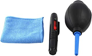 OSALADI Keyboard Cleaning Kit - 1x Mini Brush,1x Air Blower and 1x Cleaning Cloth - Also for Laptops, Camera Lenses, Glass...