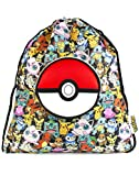 AU - Pokemon GOTTA CATCH 'EM ALL Official Drawstring Trainer Bag with Fold Away Carry Pocket for Gym School Swimming
