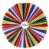 Cremalleras de Colores de Costura, Multicolor Nailon Cremalleras, 30cm/ 100 Piezas Bobina para Sastre Bricolaje Coser Ropa y Manualidades Artes (20 Colores)