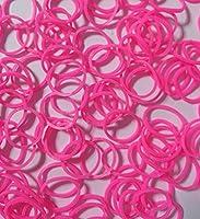 ルームバンド 補充パック セレクトカラー ピンク 600個入り 可愛いピンクラベル カラフルSクリップ12個付き レインボールーム ファンルーム DIY (ピンク)