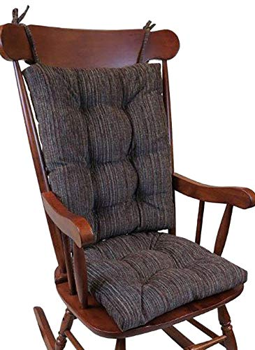 The Gripper Non-Slip Polar Jumbo Rocking Chair Cushions, Chocolate