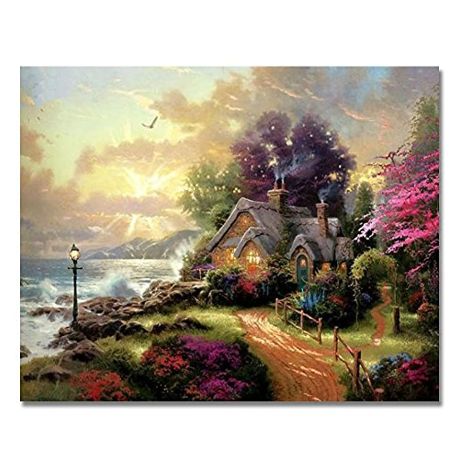 BOSHUN Paint by Numbers Kits with Brushes and Acrylic Pigment DIY Canvas Painting for Adults Beginner- Fairyland 16 x 20 inch(Without Frame)