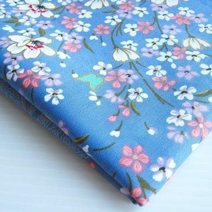 Asiatischer Kimono-Stoff, süßer Sakura-Schmetterling, 91 x 91 cm breit, 91 cm breit...