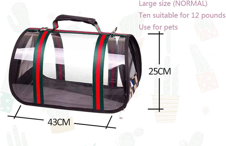 Cat Bag, pet Backpack, cat and Dog Universal Transparent Foldable Out Travel Travel Out Bag, Transparent Breathable cat Bag pet,Clear,L