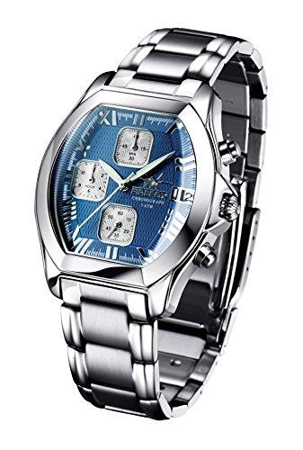 FIREFOX NEBUKADNEZAR FFS175-103b blau Damenuhr Armbanduhr Chronograph massiv Edelstahl Sicherheitsfaltschließe wasserdicht Laufwerk Miyota OS10