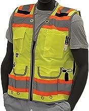 Majestic Glove 75-3235/X5 High Visy Duty Vest, Relief Pip, Insulated Pocket, Dot Stripes, 5X-Large, Orange
