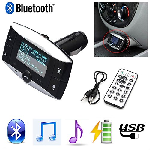 neuesten 3,8 cm LCD Auto Bluetooth MP3-Player Wireless FM Transmitter Modulator Bluetooth Kfz-Freisprechanlage unterstützt USB SD MMC + Fernbedienung
