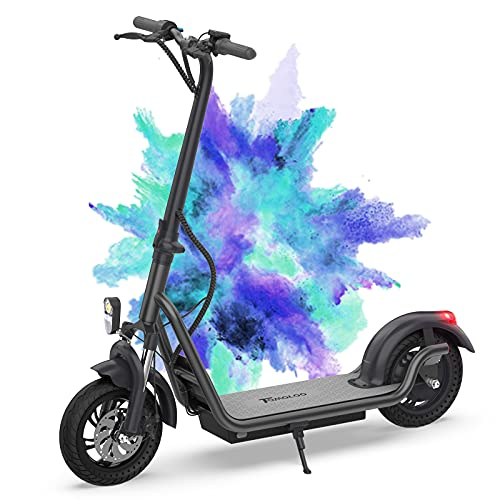 Adult Commuting Off-Road Electric Scooter, 12'' Portable Folding E Scooter, Electric...