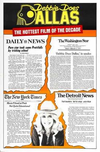 Debbie Does Dallas cartel 02A3caja impresión de Lienzo
